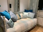 Snug with TV and day bed which doubles up as a comfy sofa for lounging - perfect for cosy nights in!