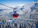 Whistler winter from the Peak to Peak gondola