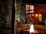Have a campfire, grill a meal, listen to the river, crank the outdoor sound system... etc