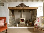 ...with a roaring wood burning stove