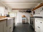 The modern farmhouse style kitchen...