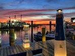 Neaby Marina at Sunset