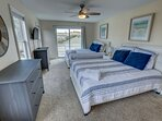 Mid-Level Master Bedroom with 2 Queens
