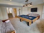 Ground-Level Rec Room with Pool Table