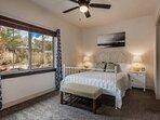 Serene Master Suite w Queen Bed, Mountain Views , En Suite Bathroom  & Ceiling Fan