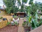 Backyard Garden and BBQ Oasis
