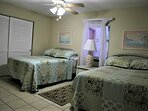 2 full beds in recently refreshed guest bedroom