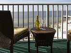 Enjoy views from your private balcony!