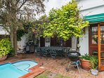 Front garden with pool and braai