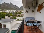 View from balcony (king bed room) with Table Mountain and cable car
