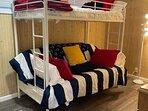 twin over full bunks, bedroom 3
