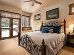 Master bedroom with King bed the on upper level