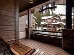 Head out to the front deck to relax and soak in the cool mountain air