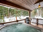 A perfectly private hot tub awaits