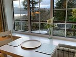 Dinner with a view! new extendable dining table and chairs for 2021.