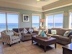 Spectacular Ocean front Living room.