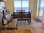 Enjoy a fine dining experience from this Ocean front Dining room! :)