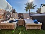 terrace & sunbeds