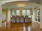 Dining room table seating for up to 6