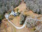 Aerial view of Pisgah Forest Retreat
