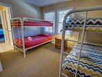 Mid-Level Bedroom with 2 Bunk Beds and Access to Jack and Jill Bathroom
