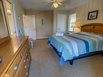 Mid-Level Queen Bedroom with Deck Access and Jack and Jill Bathroom