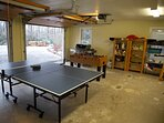 Garage game room with Ping Pong & Foosball!