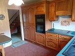 Twin Cooker Fridge Freezer to the left and Hob