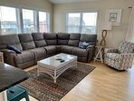 new sectional and chair