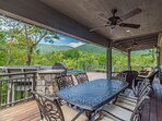 Outdoor Dining Set Covered