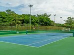 Tennis court at Reserva Conchal (requieres additional payment)