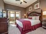 Master Bedroom - King Bed, Cable TV, Sunroom Access