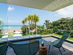 Noku Beach House - Terrace from master bedroom with beach view