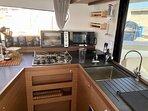 Lagoon 42fts - cooking, New Catamaran 2019