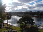 View of our cove.  This is only about 1/3 of the wide panorama you see from our deck!