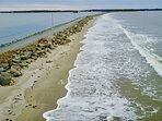 Crescent Beach is a 1.25 mile long stretch which leads out to our islands.