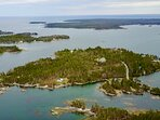 We are just to left of center  on the water. We also own SkyView on LaHave Island, in the middle.