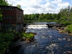 Old mill on the Petite Riviere.  There's a great spot for swimming just above the dam (14 mins away)