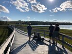 Stroll the boardwalk at nearby Risser's Beach Provincial Park ( 10 minutes away).