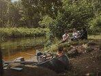 Rönneå dalen, kanot, camping, övernattning