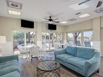 Poolside clubhouse