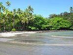 A day hike to Shipman Beach will allow you to enjoy the salt & pepper sand & cool brackish water