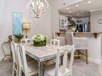 Dining Room Table with (5) Chairs & Counter Seating for (2) ~ Feel free to add the Living Room Foot Stools for Add'l...