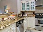 Open & Well Equipped Kitchen with Stainless Steel Appliances