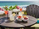 Dine Alfresco and Watch All the Beach Activities from the Private Balcony ~ Perfect Place to Entertain!