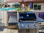 Community Grills surrounding the Pool Area