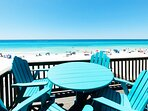 Balcony Main Level Sanddollar Townhomes Unit 11 Miramar Beach Destin Florida Vacation Rentals