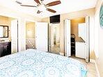 Guest Bedroom 3rd Floor & Laundry Center - Sanddollar Townhomes Unit 11 Miramar Beach Destin Florida Vacation Rentals