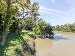 Private river access.