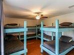 10 separate bunks.